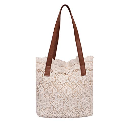 Produp Fashion Lady Literary Lace Hollow vielseitige Handtasche Schultertasche + Clutch -