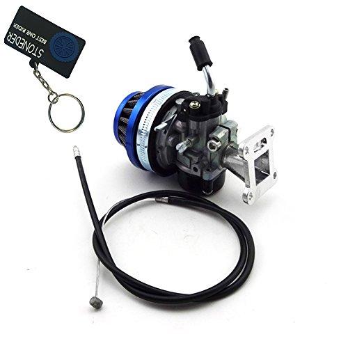 stoneder blau Racing Carb Vergaser Air Filter Reiniger Gaszug Lufteinlass für 47cc 49cc Motor Pocket Bike Mini ATV Quad 4Wheeler