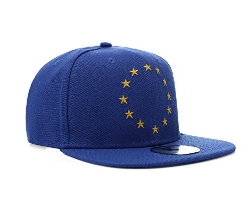 Underground Kulture EU Europäische Union Blau Snapback Baseballmütze
