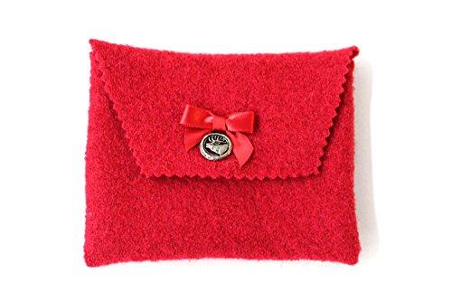 rote Trachtentasche, Dirndltasche, Filztasche, Dirndlschürzentasche, Gürteltasche für Dirndl und Lederhosn, Dirndlschürze