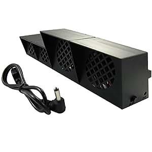 Pandaren® Super refroidisseur ventilateur de refroidissement cooler fan pour PS4(noir)