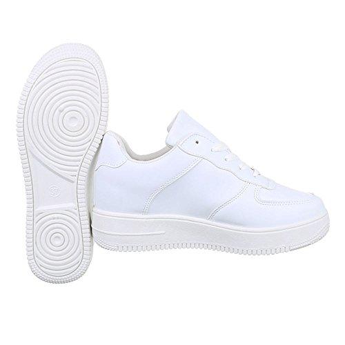 Damen Schuhe Sneakers Low-Top Schnürsenkel Low-Top Sneaker Freizeitschuhe Weiß