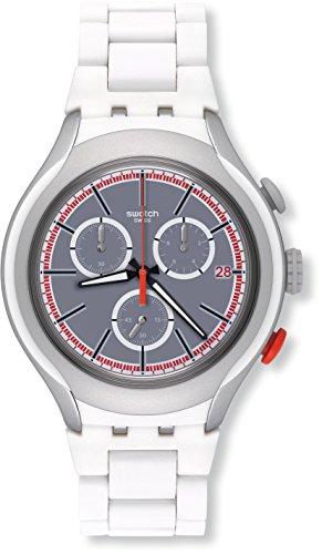 Swatch Orologio Digitale Quarzo Uomo con Cinturino in Aluminio YYS4019AG