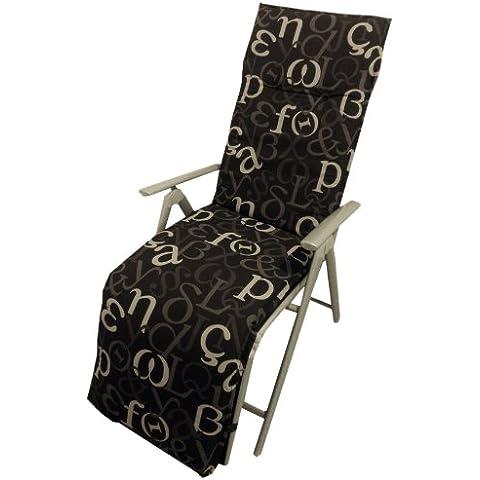 BEO B105 Bruxelles RUE Saumauflage per Relax sedie circa 48 x 172 cm, circa 5 cm di spessore