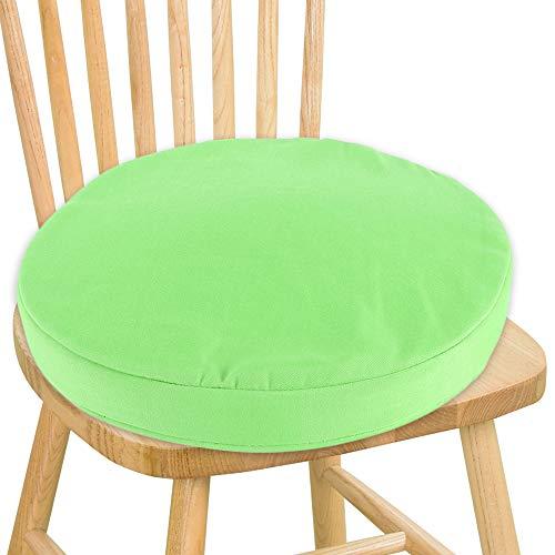 Jxjarnet - cuscino rotondo per sedia, resistente all'acqua, con lacci, per giardino, casa, sala da pranzo, bistrot, patio, ufficio, caffetteria green