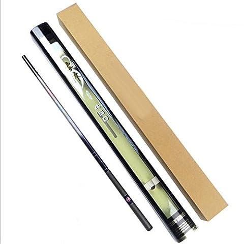 Telescopique en fibre de carbone pistolet de p¨ºche Stream Carp Pole Ultra Light Spinning Fishing Rod 3.6-7.2Meter , 3.6m