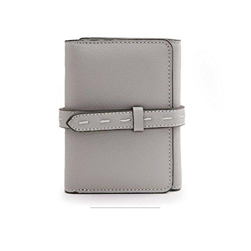 Portafoglio donna/Semplice tri-fold il portafoglio a breve/Fermasoldi/Giacca in pelle-C