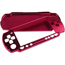MagiDeal Shockproof Aluminum Metal Case Cover For Sony PSP 2000 Game Console Red
