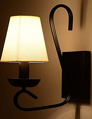 SSBY Single Arm Modern Metal Cloth Lampshade Wall Lamp Industrial Decorate for Living Room / Study Room / Corridor Wall Lamp