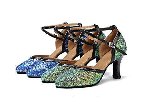 Miyoopark - Ballroom donna Green-8cm Heel