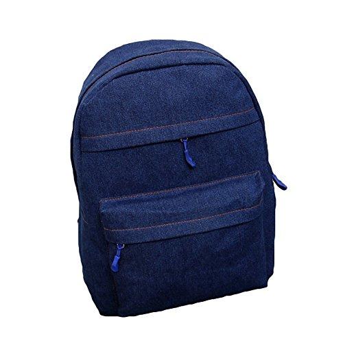 Imagen de tgloe® vaquero lienzo espalda  color sólido llevar estudiante cartera oscuro azul