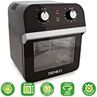 trenko–Air Fryer Oven Power–Horno de aire comprimido–asado–Secador–Horno sin aceite–de horno Saine y rápido–5en 1–Black
