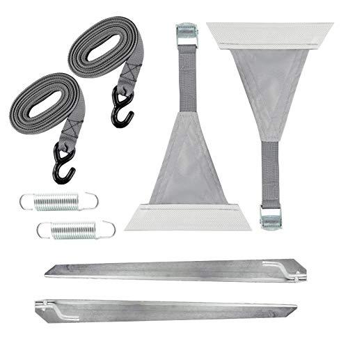 Preisvergleich Produktbild ha ba Abspannset 8 TLG. grau für Sack & Kasettenmarkisen Kederbefestigung für Wohnwagen & Wohnmobil