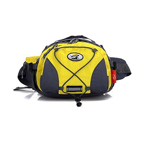 wewod unità multifunzione borsa a tracolla grande borsa Tourist impermeabile borsa da cintura, Rote, 27*20*16 cm Gelb