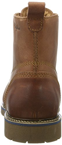 Australian Everest Leather, Baskets Hautes Homme Marron (Cognac)