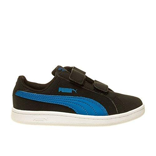 Puma Smash Fun Buck V PS - 36159210 - Farbe: Schwarz-Blau - Größe: 32.0 (Buck Jungen Schuhe)