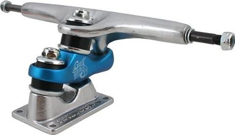 Gullwing Sidewinder II 9.0 Silver/Blue Truck Skateboard Trucks (Set of 2) by Gullwing