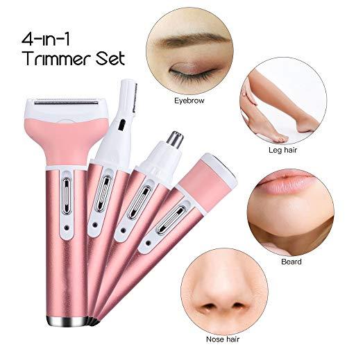 Augenbrauen Gesicht epilierer epil damen männer, wasserdichte Gesichts-Haarentferner, sichere Klinge Design, Druckschalter, USB, multifunktionale geeignet für den ganzen Körper verwenden,Pink