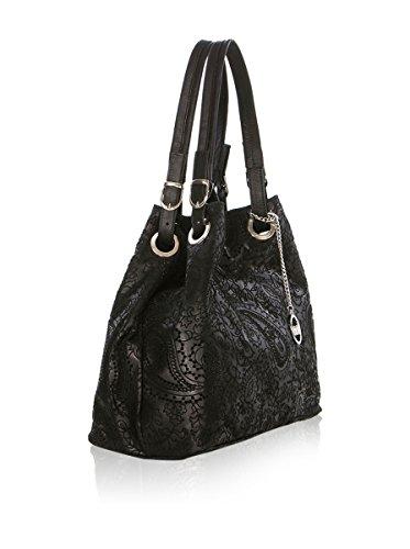 Mia Tomazzi - Leather Handbag - Made in Italy - 42x17x38 cm - Shopper - cross body - Shoulder Bag - Tote Bag Schwarz