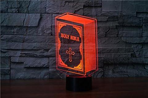Touch 3D Visual Stereo LED USB Bunte kleine Nachtlicht Heilige