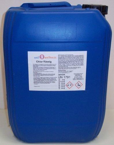 well2wellness Chlorbleichlauge stabilisiert/Chlor flüssig stabilisiert 24,0 kg