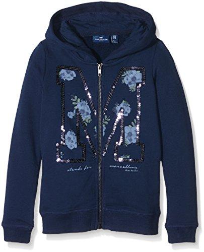 TOM TAILOR Kids cozy sweatjacket with hood, cappuccio Bambina, Blu (cosmos blue), 128
