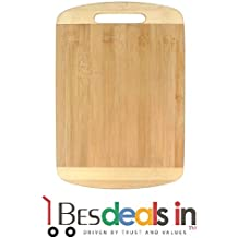 Style Eva Best Deals - Wooden Bamboo Kitchen Chopping/Cutting/Slicing Board with Holder for Fruits,Vegetables & Meat. (24x34 cm)