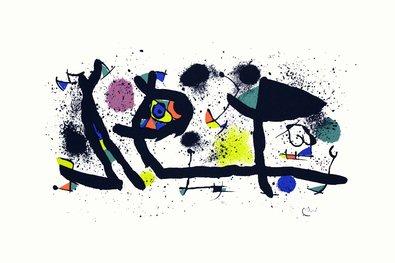 Joan Miro Sculptures Litografia, steinsigniert ohne rahmen