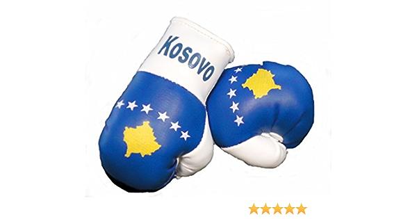 Sportfanshop24 Mini Boxhandschuhe Kosovo 1 Paar 2 Stück Miniboxhandschuhe Z B Für Auto Innenspiegel Auto