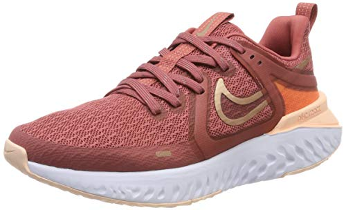 Nike Wmns Legend React 2, Zapatillas de Running para Mujer, Rojo (Lt Redwood/Mtlc Red Bronze/Crimson Tint/Platinum Tint 800), 37.5 EU