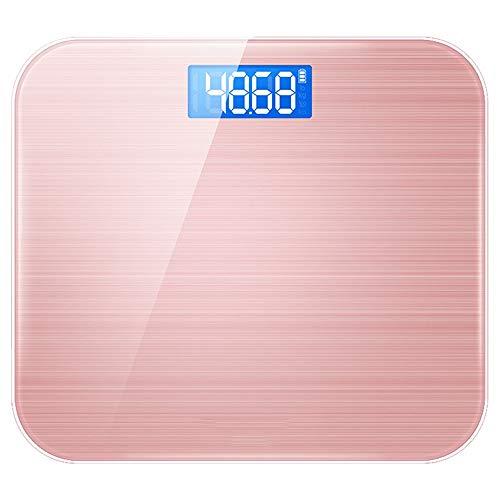 DJSkd Wiederaufladbare elektronische Waage Haushalt Körperwaage Mini Erwachsene Gewichtsverlust Skala Genaue Waage (Farbe : Roségold)