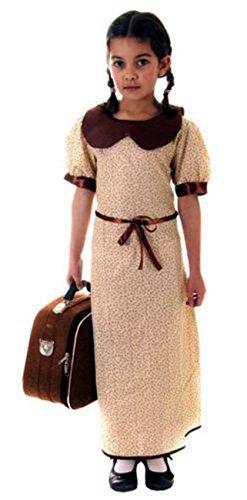 Mädchen WW2 Umsiedler Kostüm 1940s Welt Buch Woche Kostüm Büchertag 4-12 jahre - EU (Ww2 Kostüm Evacuee Girl)