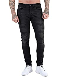 Mens ETO Designer Jeans Skinny Slim Rip & Repair Stretch Distressed Funky Stylish Pants Bottoms 3 Washes