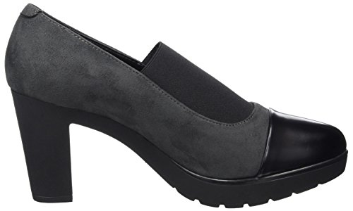 NR RAPISARDI Damen N200 Pumps Grau (Asphalt Chamoias/Black Boston 06CMBT-E)