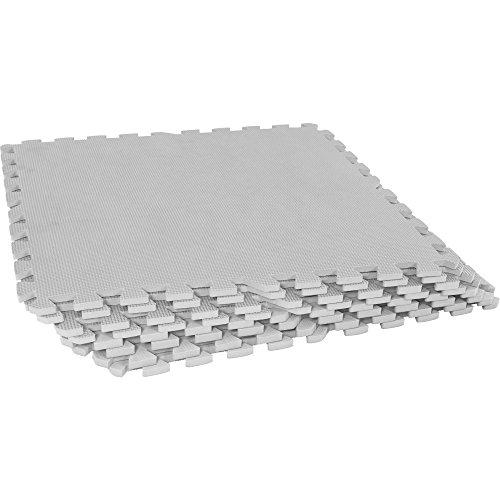 GORILLA SPORTS Schutzmatten-Set 8 Puzzle-/Sport-Matten 60 x 60 cm, Bodenschutz in Grau
