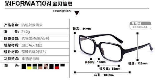 echte strahlungssicher brille für männer und frauen - box computer spiegel flache spiegel multifunktionale computer - brille flut,schwarz - rot bein umrahmt. - Umrahmt