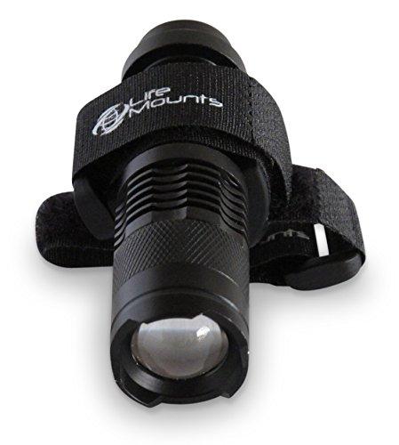 Life Mounts - LED-Taschenlampe für die Jagd, für Weste und Rucksack, mit Schultergurt, Schwarz