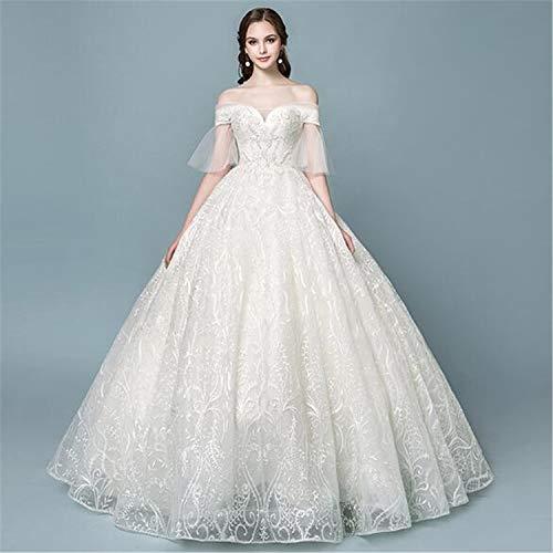 He-shop Brautkleid,Hochzeitskleid Luxuriöse Elegante Hochwertige Braut Eine Schulter Traum Spitze...