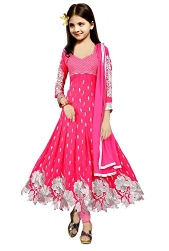 Jds Fashion Girl'S Faux Georgette Anarkali Salwar Suit Set (Jds_Gajri_Cgkd_Pink_Free Size)  available at amazon for Rs.699