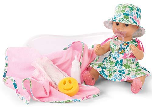 Aquini Mädchen Puppe - Blooms - 33 cm große Badepuppe mit blauen Schlafaugen, ohne Haare in 12-teiligem Set ()
