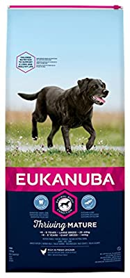 Eukanuba Mature Dog Food For Large Dogs Rich in Fresh Chicken For the Optimal Body Condition of Your Dog 12kg (Packaging may vary)