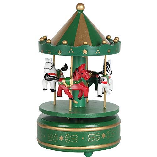 1701794 Naisidier Juguetes de Navidad para niños Feliz-troyano Caja de música Verde 1 PCS