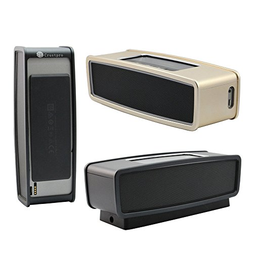 Junsi Aluminum Alloy Assamble Protector Tasche Case Cover Cage Metal Shell for Bose Soundlink Mini/Soundlink Mini 2 II Bluetooth Speake Lautsprecherr - Black Bluetooth Metal Cover