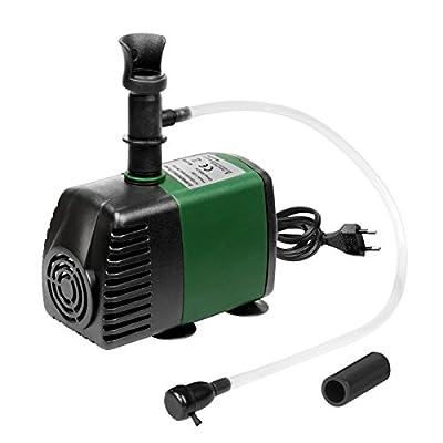 Pompe submersible Pompe à eau 145GPH avec Oxyg Nation Air Intake, Pompe à eau avec 1.47ft hohem Lift, Pompe Fontaine avec 4.5ft câble d'alimentation, 2buses pour Aquarium, étang, aquarium, Stat karori, Hydroponics