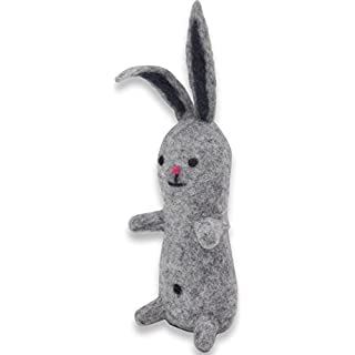 Alakiiz Charlie Rabbit – Handmade By Skilled Artisans- 100% ORGANIC FINEST MERINO WOOL- Environmentally Friendly- Perfect Choice Of Gift For A Birthday/ Christmas & As A Souvenir Or Ornament- Suites An Office/ Desk/ Nursery/ Car & Home- Guaranteed Customer Satisfaction