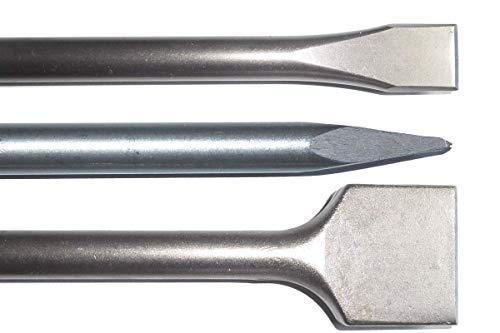 SDS PLUS Meißelset Meißel 600mm lang Spitzmeißel Spatmeißel 25 x 600mm und 50 x 600mm