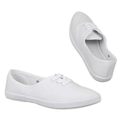 Damen Schuhe, 207, HALBSCHUHE Weiß