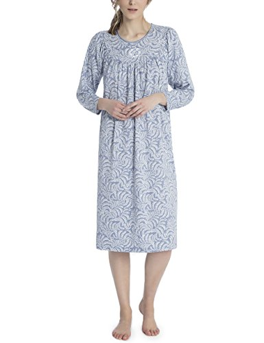 Calida Damen Soft Cotton Einteiliger Schlafanzug, Blau (Avalon Blue 462), X-Small