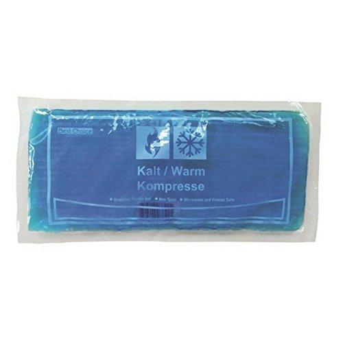 2x Wärmekompresse Kältekompresse Gel Kompresse Kühlkompresse blau 13x28 cm Wärme