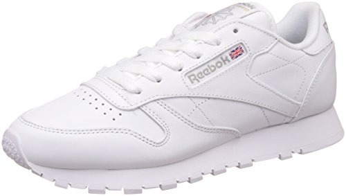Reebok Classic Leather Zapatillas, Mujer, Blanco, 38.5 EU / 5.5 UK / 8